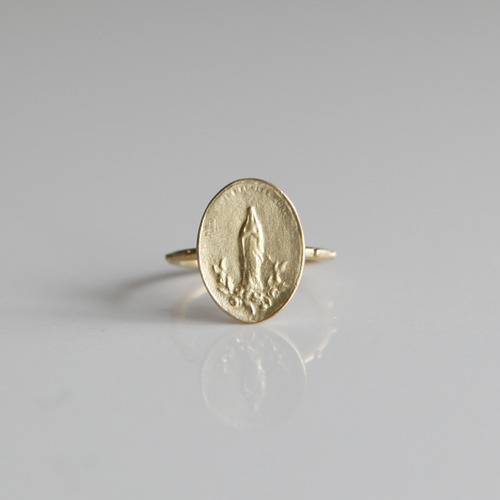 마리 로즈 골드 묵주반지 Virgin Mary of Roses Gold Rosary Ring 14K,18K