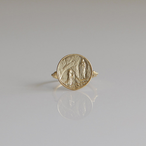 루르드 골드 묵주반지 Our Lady of Lourdes Gold Rosary Ring 14K,18K
