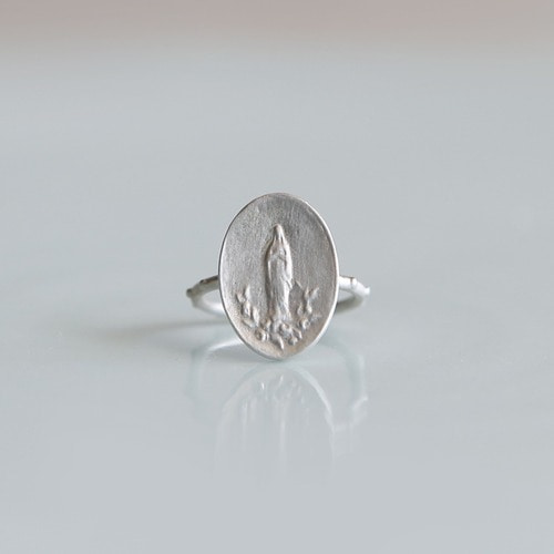 마리 로즈 실버 묵주반지 Virgin Mary of Roses Silver Rosary Ring